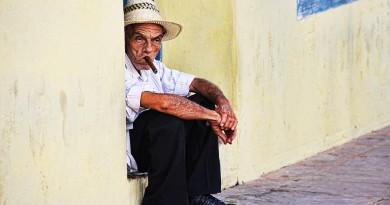 Cuba Havana old man smoking cigar
