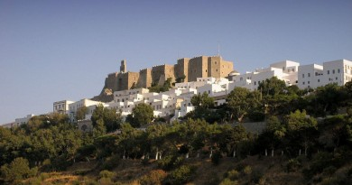 Greece Patmos Chora and castle of Patmos