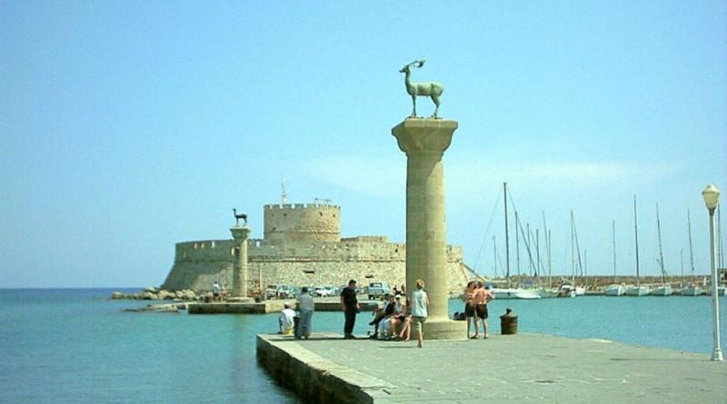 Greece Rhodes harbour