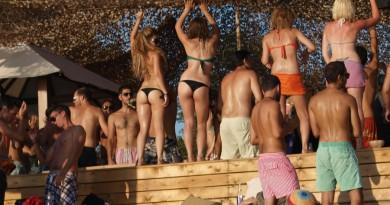 Greece Skiathos Banana beach bar