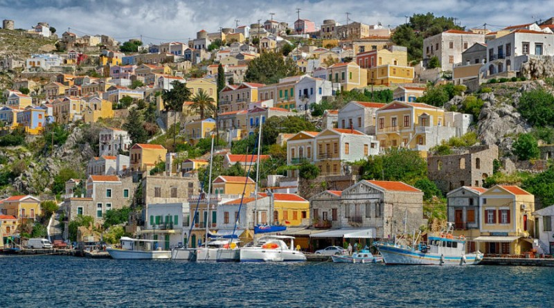 Greece Symi houses