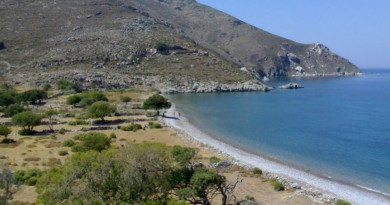 Greece island Tilos Lethra beach