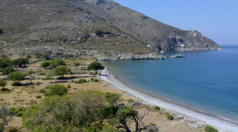 Greece island Tilos Lethra beach