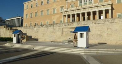 Athens parliament building and monument of Unknown soldier