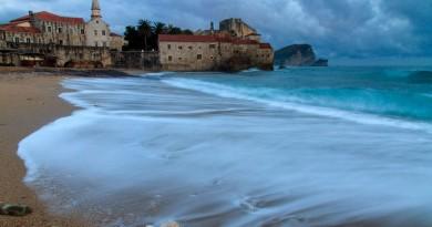 Montenegro Budva beach and old town