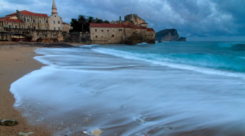 Montenegro Budva beach and old town