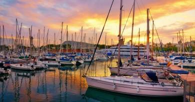 Spain Barcelona main harbour