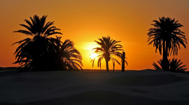 Tunisian desert sunset