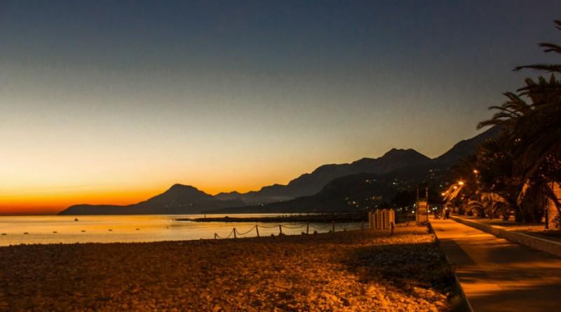 Montenegro Bar in the evening