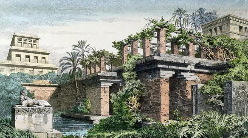 Semiramis Hanging gardens of Babylon by Ferdinand Knab