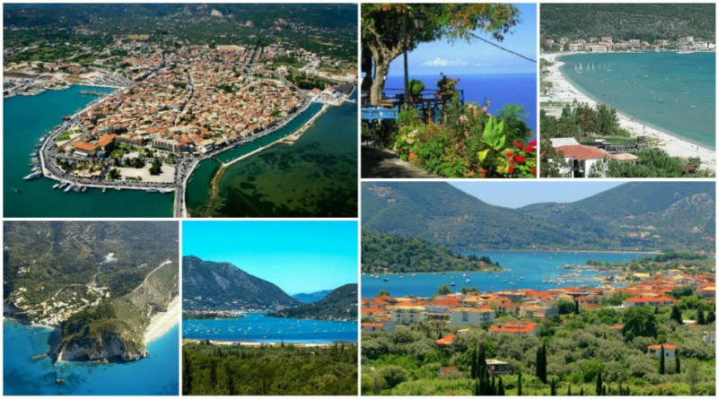 Greece Lefkada cities