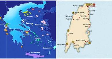 Greece Lefkada cover map