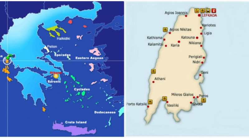 Greece Lefkada cover map