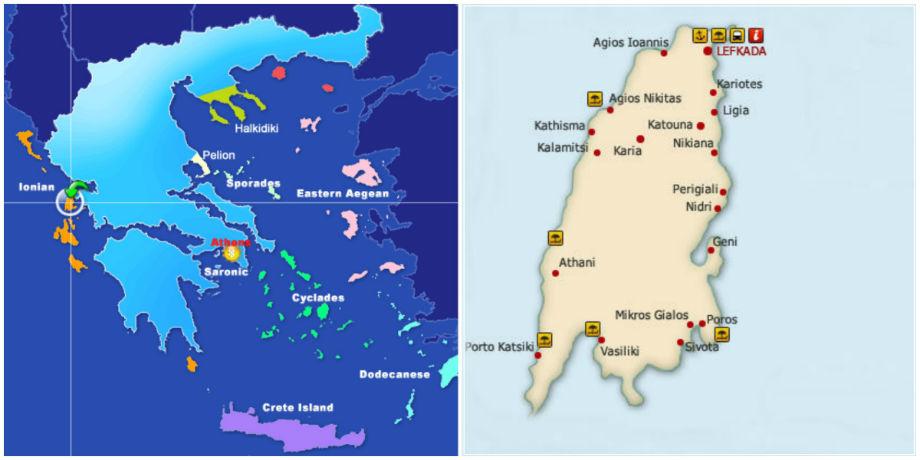 ostrvo lefkada mapa Lefkada – mapa | Svet Putovanja ostrvo lefkada mapa