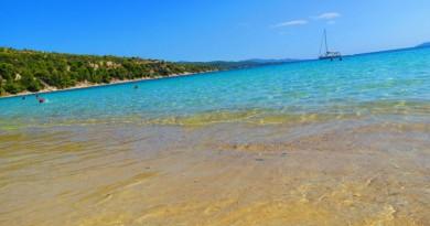 Greece Sithonia Agios Ioannis beach crystal clear water