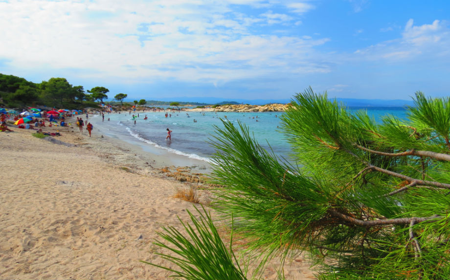 Greece Sithonia Karidi beach Vourvourou
