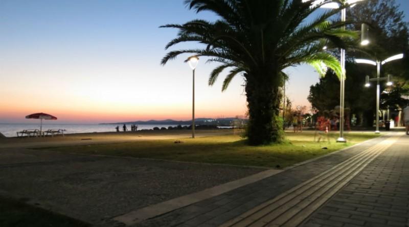 Greece Sithonia Nikiti pedestrian zone