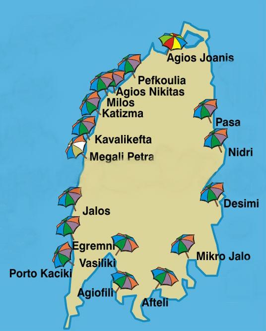 Lefkada Mapa Svet Putovanja