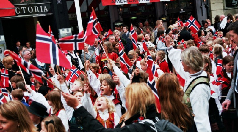 Norway people march