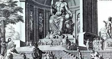 Seven wonders - Statue of zeus at Olympia, drawing by Maarten van Heemskerck