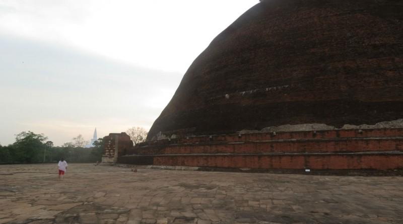 Sri Lanka Anuradhapura Jethawanaramaya stupa and she