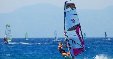 Greece Rhodes Ialyssos west windy cost