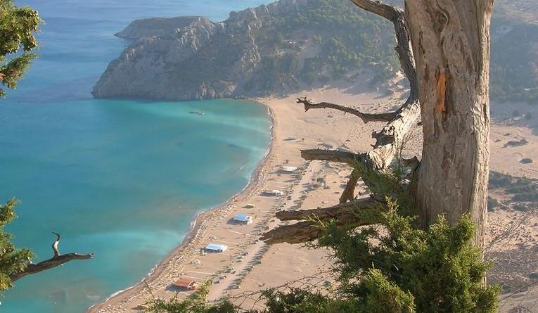 Greece Rhodes Tsambika beach