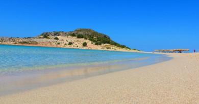 Greece Peloponnese Elafonisos Simos - beautiful sandy beach