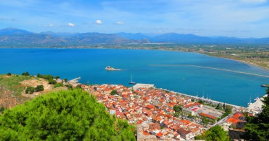 Greece Peloponnese Nafplio old town