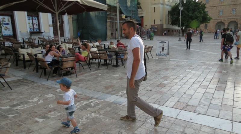 Greece Peloponnese Nafplio Syntagma square