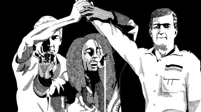 Jamaica Kingston One love Peace concert - Edward Seaga, Michael Manley and Bob Marley