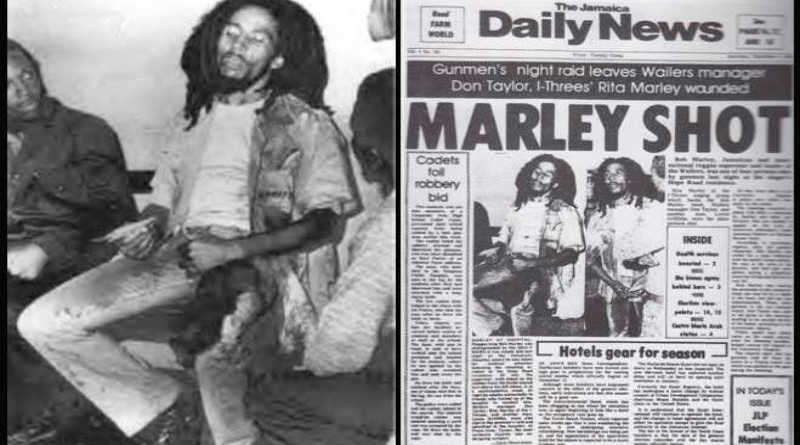 Bob Marley wounded just before smile jamaica concert