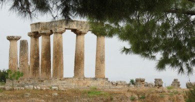 Greece Ancient Corinth temple of Apollo