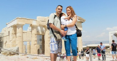 Greece Athens the three of us and Parthenon
