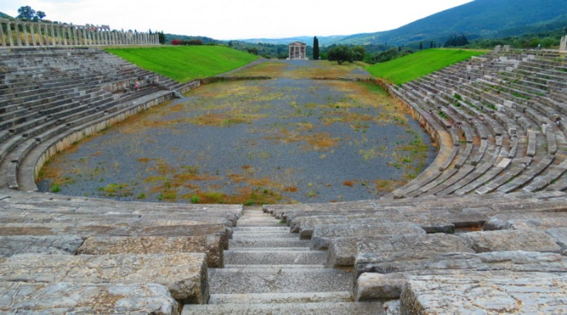 Greece Peloponnese ancient Messene stadium