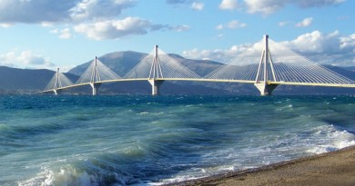 Greece Peloponnese Patra bridge