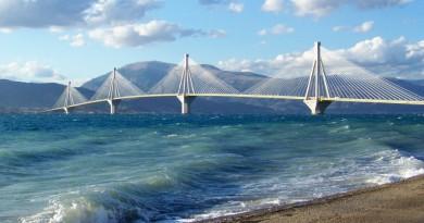Greece Peloponnese Patra bridge