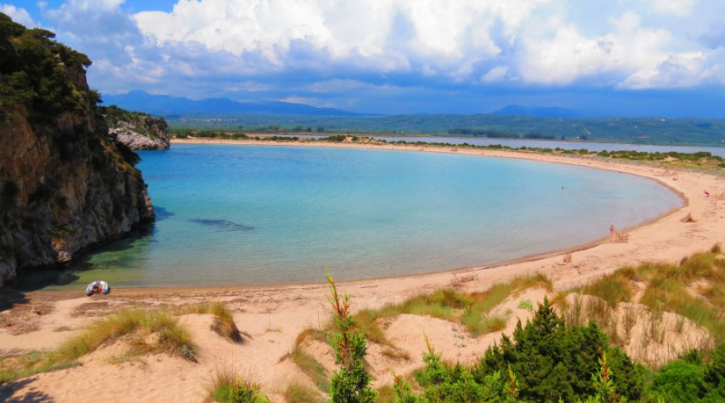 Greece Peloponnese Voidokilia beach
