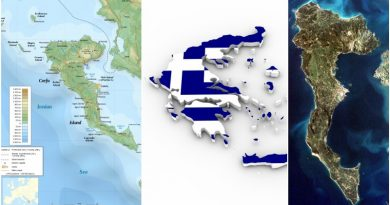 Greece Corfu map