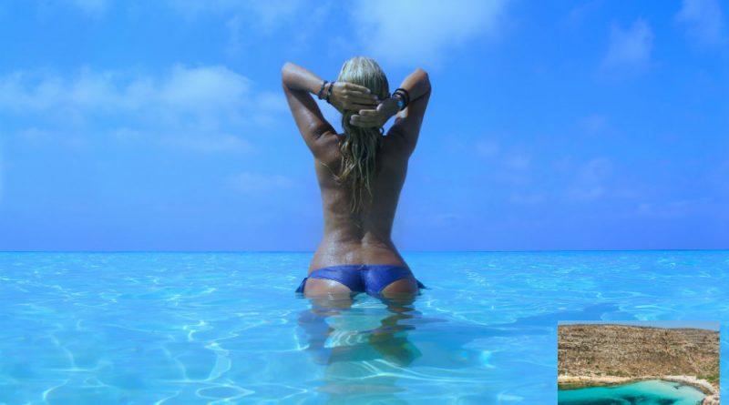 Italy Lampedusa Cala Pulcino beach