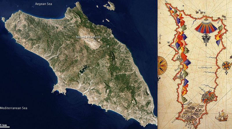 greece rhodes map