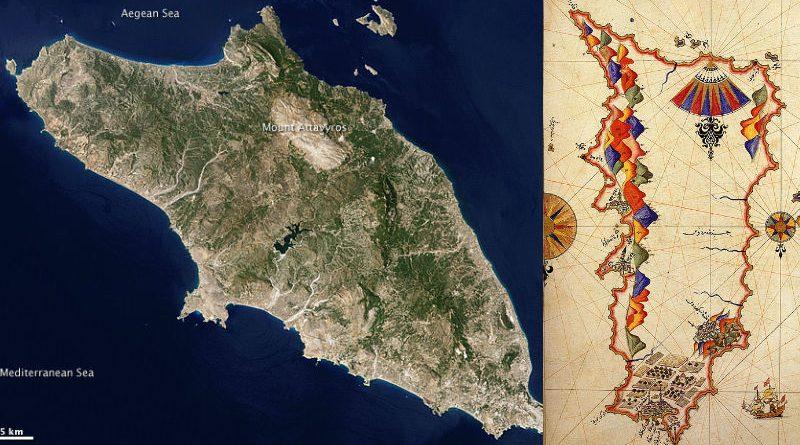 greece rhodes map
