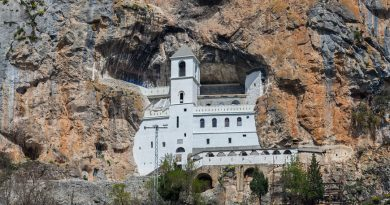 Montenegro Ostrog monastery on the cliff