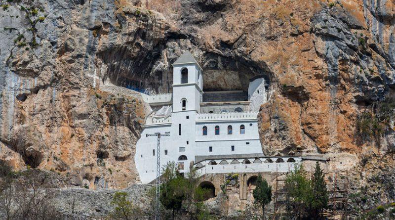 Montenegro Ostrog monastery on the cliff