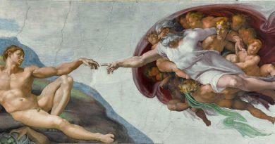 Sistine chapel the creation of Adam
