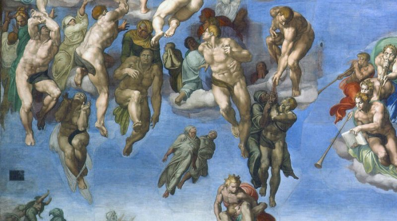 Sistine chapel Last judgement cover up
