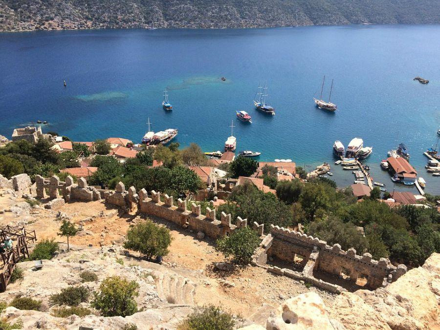 Kekova - potopljeni grad - Pogled na zaliv