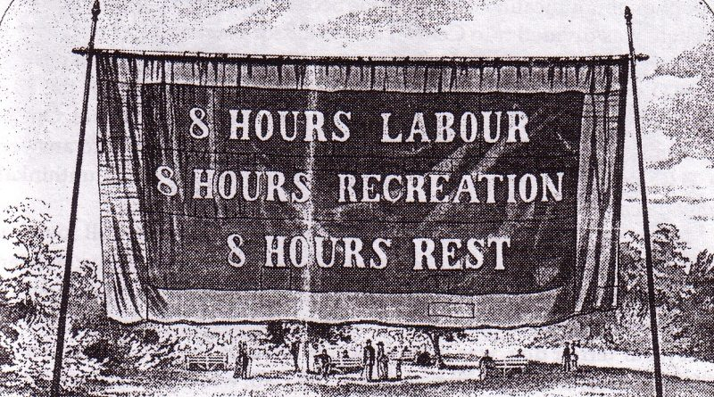 Labour day 8 hours day banner