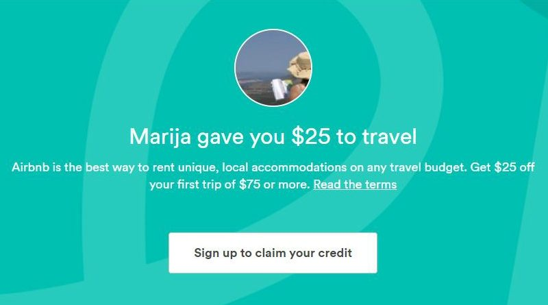 Airbnb free credit sign up intro