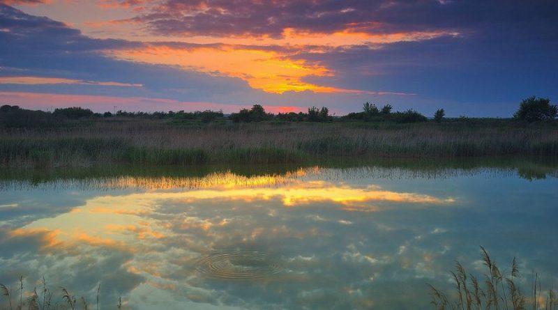 Srbija Deliblatska pescara jezero u blizini alibunara